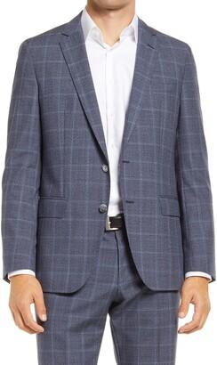 HUGO BOSS Hartlay Classic Fit Windowpane Wool Sport Coat