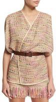 Diane von Furstenberg Novata Dolman-Sleeve Jute Vest, Multicolor