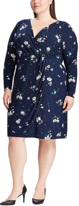 Chaps Plus Size Floral Wrap Dress