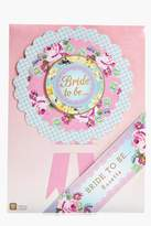 boohoo Bride To Be Floral Rosette Badge