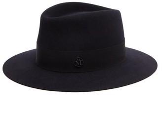 Maison Michel Henrietta Waterproof Felt Fedora Hat - Navy