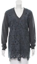 Lela Rose Wool Crocheted Sweater