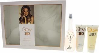 JLO by Jennifer Lopez Glow 3 Pc. Gift Set (Eau De Toilette Spray 3.4 Oz + Body Lotion 2.5 Oz + Shower Gel 2.5 Oz) for Women By