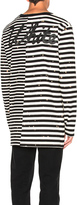 Off-White Striped Long Sleeve Tee