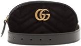 Gucci GG Marmont quilted-velvet belt bag