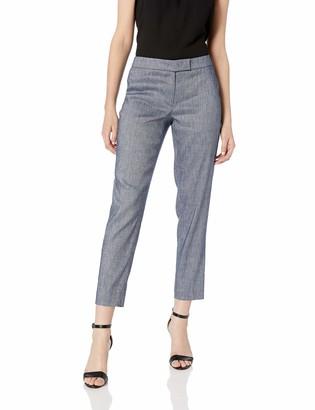 Anne Klein Women's Linen Twill Slim Pant