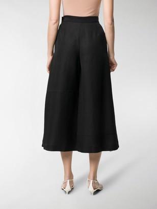 Loewe Contrast Lining Wide-Leg Trousers