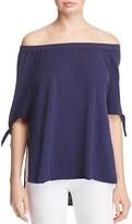 Nation Ltd. Ava Off-The-Shoulder Slit Sleeve Top
