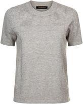 Jaeger Knitted Texture Block T-Shirt