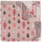 Alexander McQueen multi skull print scarf