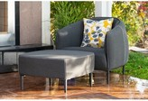 Carmelo Outdoor Patio Chair with Sunbrella Cushions and Ottoman Brayden Studio