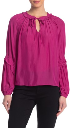 Ramy Brook Rachael Split Collar Blouse