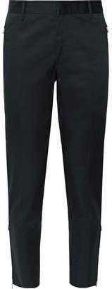 Prada Navy Slim-Fit Tapered Cotton-Blend Gabardine Trousers