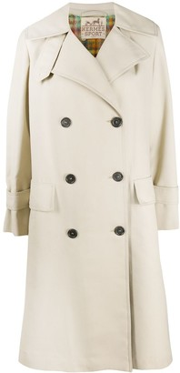 Hermes Pre-Owned Double-Breasted Trench Coat