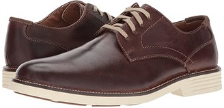 Dockers Parkway Plain Toe Oxford (Red/Brown Waxy Distressed Burnished Full Grain) Men's Shoes