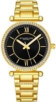 Stuhrling Original Women's Aria Goldtone Black Dial Watch