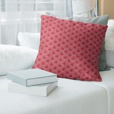 Jordao Zig Zag Pattern Throw Pillow Brayden Studio Color: Light Red, Fill Material: Poly Fill, Cover Material: Faux Suede