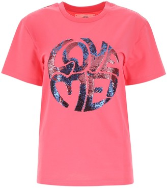 Alberta Ferretti Sequin Embellished Crewneck T-Shirt