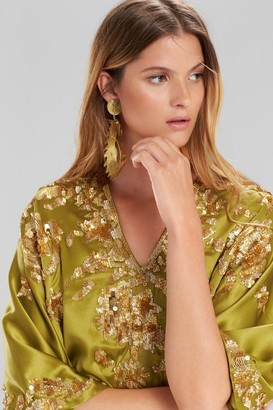 Natori Couture Beaded Suzani Caftan