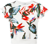 Philosophy Di Lorenzo Serafini - short sleeve floral sweatshirt - women - Cotton - L