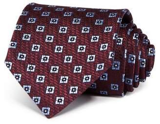 Ermenegildo Zegna Embroidered Square Silk Classic Tie