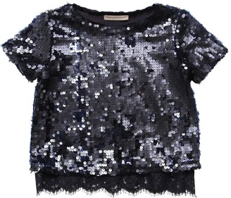 Ermanno Scervino Sequined Jersey Top