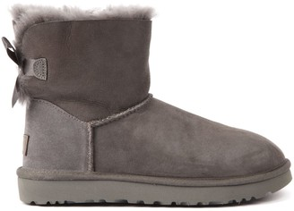 UGG Mini Bailey Grey Suede Ankle Boots