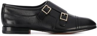 Santoni Buckled Low-Heel Monk Shoes