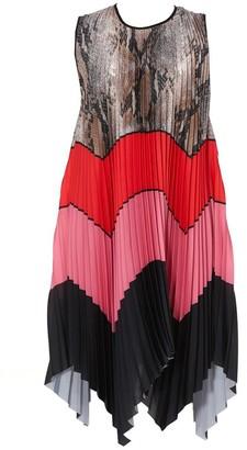 MSGM Colour Block Pleated Dress