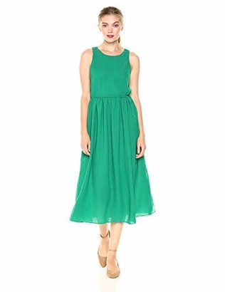 Peace Love Maxi Signature Society Women's Sleeveless Dress XXX-Large Green