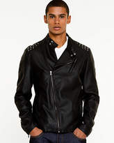 Le Château Leather-Like Funnel Neck Jacket