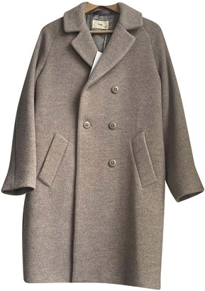 Folk Grey Wool Coats