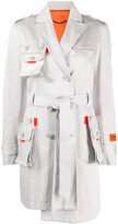 Heron Preston multi-pocket asymmetric trench coat