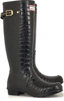 Crocodile-print Wellington boots