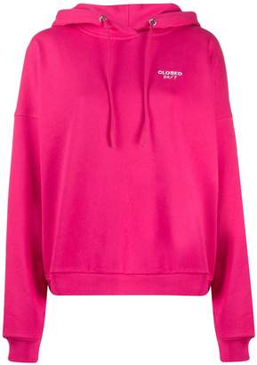 Closed embroidered logo hoodie