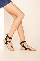 Forever 21 FOREVER 21+ Faux Suede Lace-Up Sandals