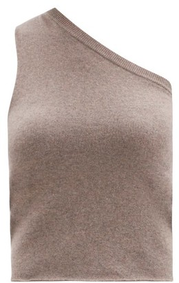 Extreme Cashmere No.108 Asymmetric Stretch-cashmere Sweater - Mid Brown