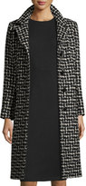 Cinzia Rocca Four-Button Chesterfield Tweed Coat, Black
