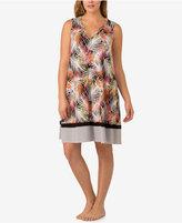 Ellen Tracy Plus Size Mixed-Print Sleepshirt