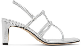 Dorateymur Silver Thong Heeled Sandals