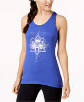 Gaiam Fiona Graphic Keyhole-Back Tank Top