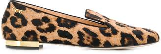 Charlotte Olympia leopard print loafers