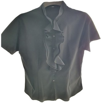 BOSS Black Cotton Top for Women