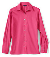 Classic Women's Petite Long Sleeve Stretch Broadcloth Shirt-Water Lily