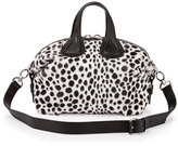 Givenchy Nightingale Small Dalmatian-Print Satchel Bag, Black