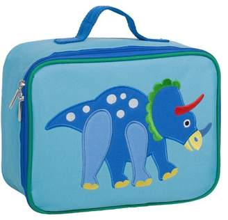 Olive Kids Dinosaur Embroidered Blue Insulatead Lunch Box for Boys and Girls