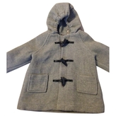 Burberry Grey Wool Jacket coat