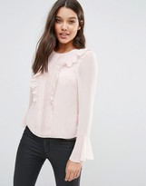 Lipsy Michelle Keegan Loves Ruffle Front Blouse
