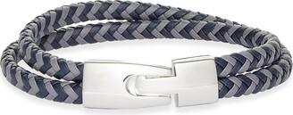 Nordstrom Double Strand Braided Leather Bracelet