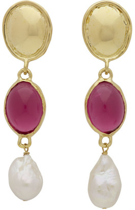 Sirena Mondo Mondo Gold and Pink Earrings